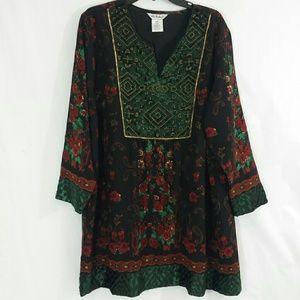 Ulla Popken Beaded Tunic Dress